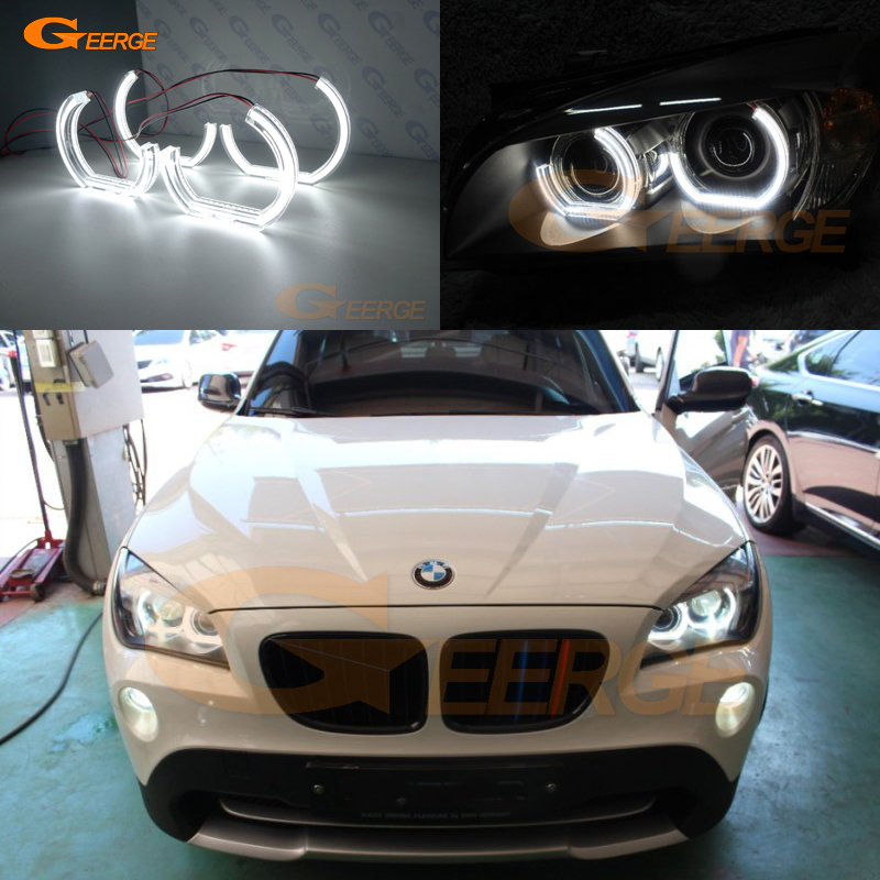 For BMW X1 E84 2010 2011 2012 2013 2014 2015 Xenon headlight Excellent DTM M4 Style Ultra bright led Angel Eyes kit