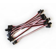 10Pcs 10cm 26AWG  10cm Male to Male JR Plug Servo Extension Lead Wire Cable for RC Quadcopter Airplane