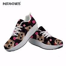 INSTANTARTS женская спортивная обувь для фитнеса животное кошка печати увеличивающие рост мышц обувь женская дышащая для похудения обувь