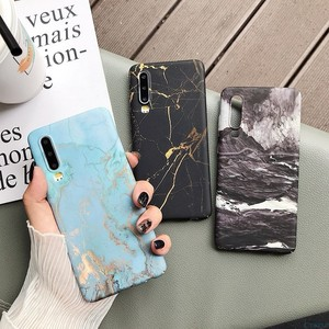 Image 2 - Marble Phone Back Case For Huawei P20 P30 Mate 20 Pro Lite Nova 4 P Smart 2019 Honor 10 lite Pattern Hard PC Full on Cover Coque