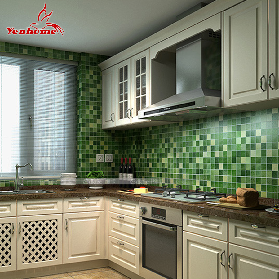 Modern PVC Self Adhesive Wallpaper Bathroom Wall Paper Kitchen Waterproof  Mosaic Tile Stickers Vinyl Home Decor Wall Stickers In Wall Stickers From  Home ...
