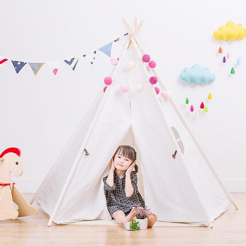 Tentes blanches de cour pour la peinture à la main Graffiti comme cadeau pour enfants tente pliante jouets Playhouse tente Tipi intérieure enfants Tipi enfants jouent tentes