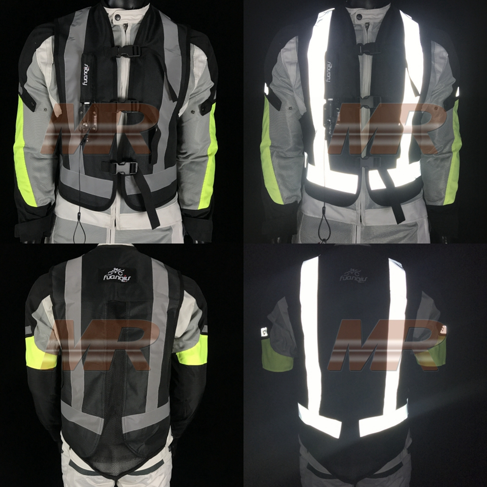 Charitable Motorcycle Men And Women Jacket Reflective Vest Professional Air Bag System Protective Gear Moto Motocross