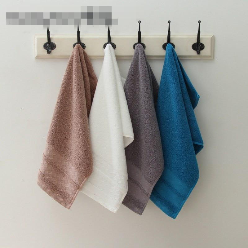 Solid Color Cotton Thicken Face Towels Yoga Bathroom
