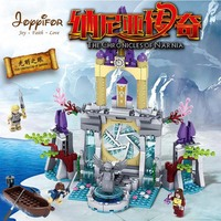 Joyyifor 2 kinds The Chronicles of Narnia 445/451pcs Chronicle Of Nanya LegoINGlys Ghost Pirate Ship Hiding Building Blocks