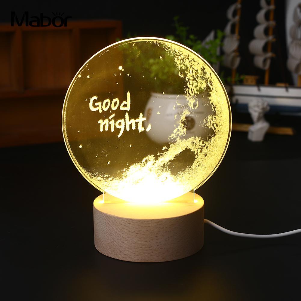 Led Light Fixtures Good: Cute LED Light 3D Desktop Good Night Modeling Lamp New
