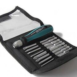 9 Unids/set Destornilladores de Precisión 1/4 /6.35mm Phillips/Bits Ranurados Con Magnética Multitool Reparación de Electrodomésticos Herramientas de mano