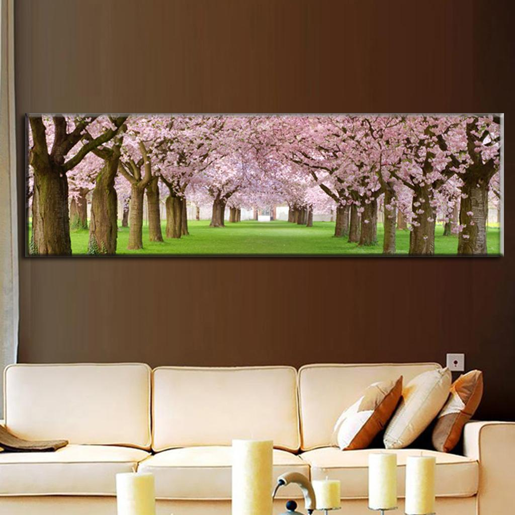 Cherry Blossom Canvas Wall Art online shop large canvas paintings wall art top home decoration