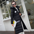 2016 Winter New Fashion Causal Over The Knee Medium Long Size Thicken Large Size Slim Solid Color Women Down Coat