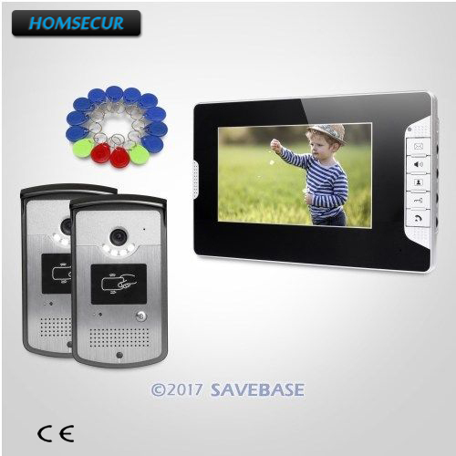 HOMSECUR 7 Wired Video Door Entry Phone Call System with Mute Mode for Home Security