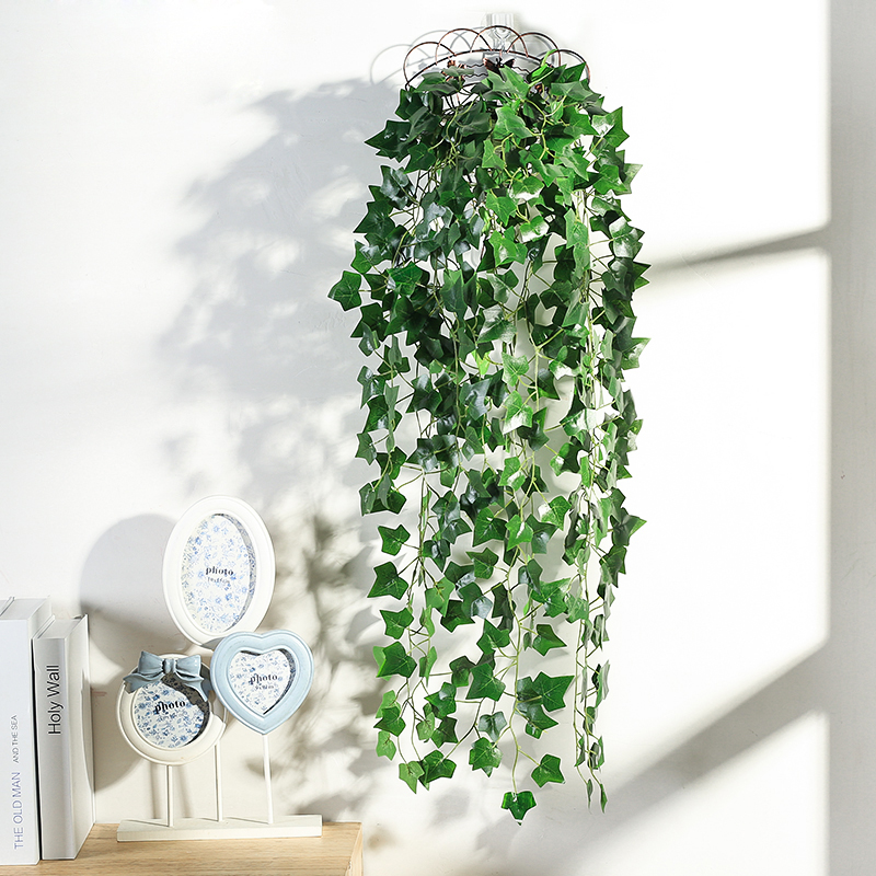 Artificial Plants Wall Hanging Decorative Flower Simulation Green Planting Rattan Fake Leaves Wall Hanging Home Wedding Decor Attractive Fashion Artificial & Dried Flowers