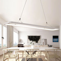 VeiHao Remote Circle Rectangle Ring Modern Led Pendant Light Dinning Room Round Table Led Pendant Lamp