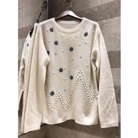 Свитер с круглым вырезом и цветочным узором; Женский пуловер; сезон осень зима; теплый высококачественный кашемировый материал; мягкий свит