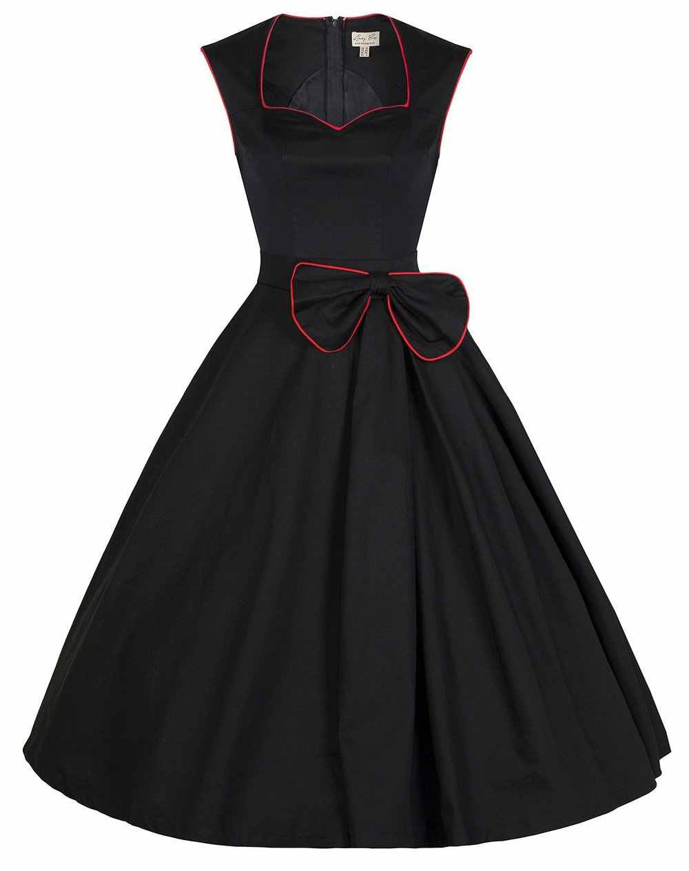 91181e6df01 ... Vintage Swing dresses 50s 60 style square collar Women Retro Casual bow  Party Rockabilly Dress Femininos ...