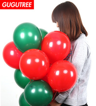 Decorate 100pcs 10inch green red latex balloons wedding event christmas halloween festival birthday party HY-371