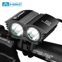 INBIKE Luz de la Bici T6 y Mecha L2 Linterna Impermeable Luz Manillar de La Bicicleta Ciclismo Accesorios IL708