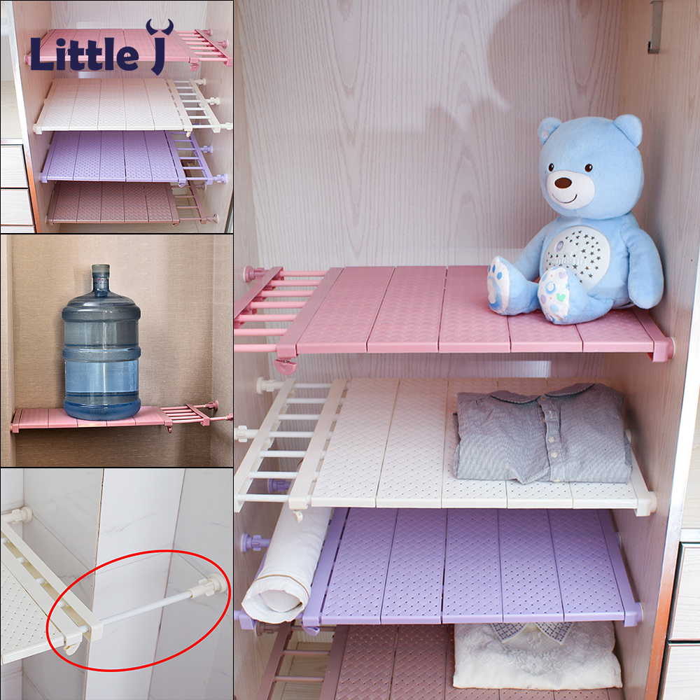 Closet Organizer Storage Shelf Space Saving Wall Mounted Adjustable Wardrobe