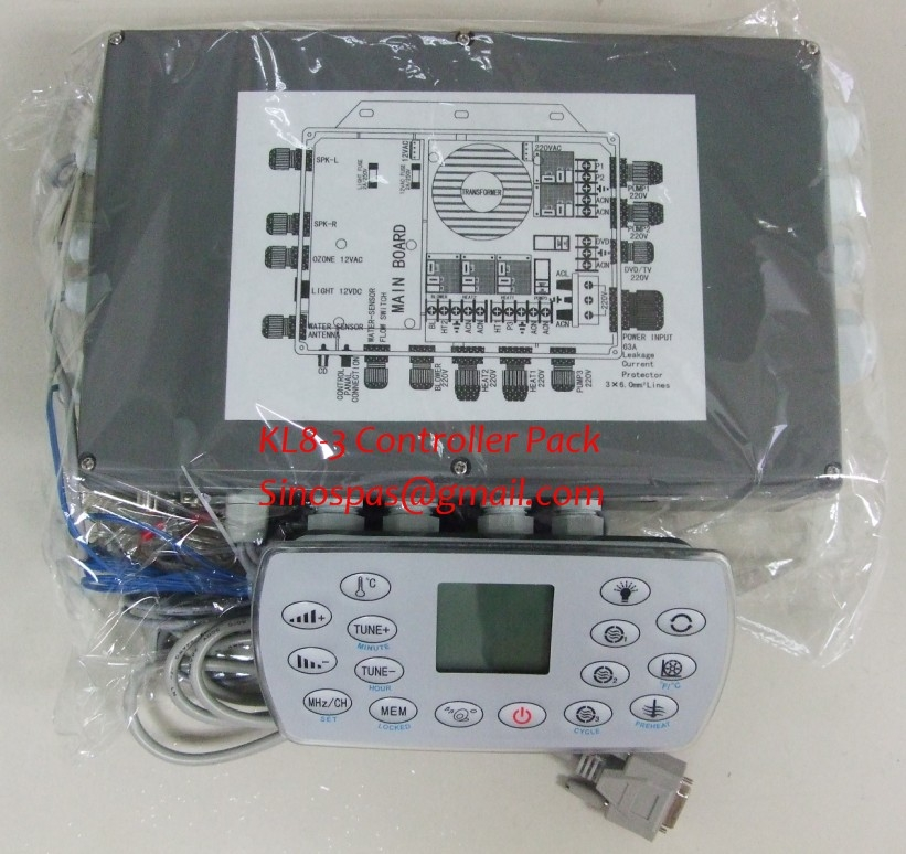 Chinese Monalisa hot tub controller Set , spa panel +control box with 12VDC light connector