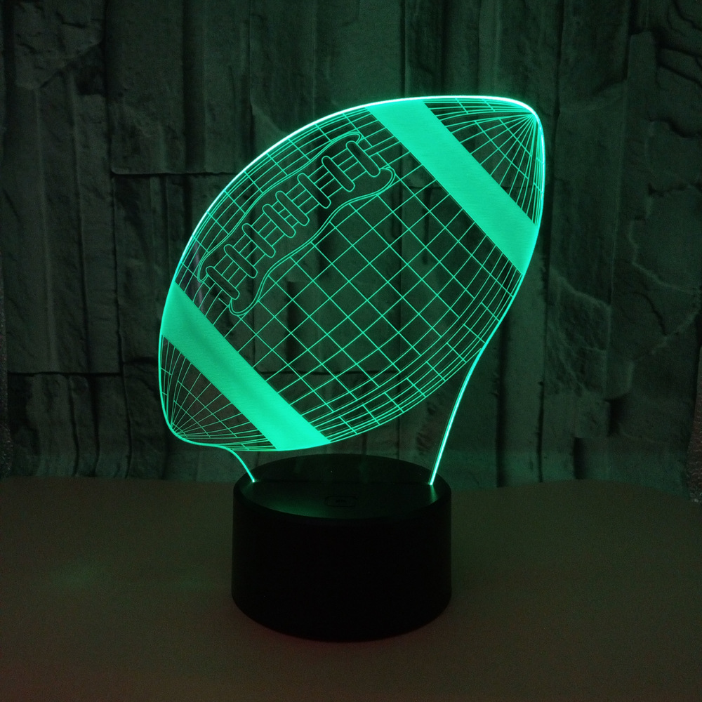 Colorful 3d Led Football Usb 3d Nightlight Touch Remote Luminaria De Mesa 3d Light Fixtures Novelty Kids Lamp image