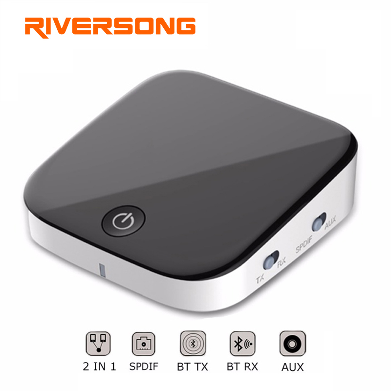 RIVERSONG aptX Low Latency Optical Bluetooth Transmitter for TV Dual Link Wireless Music Audio Adapter for Headphones/Speakers multipoint wireless bluetooth transmitter for audio tv 3 5mm jack aptx music aux bluetooth 4 0 adapter for two headphones