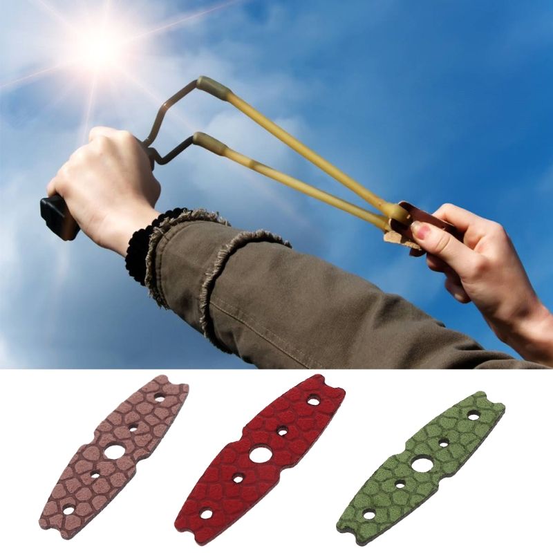 High Quality 10 Pcs/Set Catapult Faux Leather Pocket Hunting Slingshot Accessories Microfiber Free Shipping