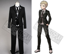 Dangan Ronpa Danganronpa Fuyuhiko Kuzuryu Prinstripe Uniform Black Jacket Suit Shirt Pants Anime Halloween Cosplay Costume