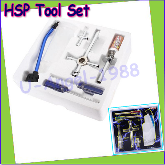 Wholesale 7pcs/set HSP Spare parts 80142 Nitro Starter Tools Kit Set for R/C Car EU AU US AK for choose(1 set)