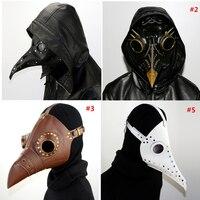 2017 PU Leather Steampunk Steam Punk Gothic Bird Beak Mask Goggles Plague Doctor Cosplay Hallowee Role