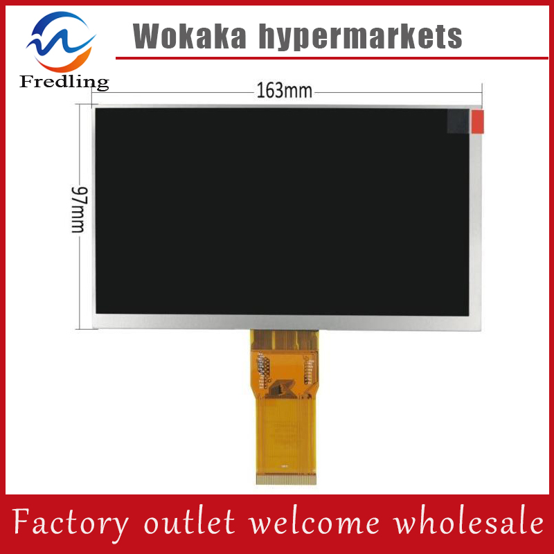 New 7 inch TABLET Explay Hit 3G lcd screen 163*97mm 50pin 1024*600 LCD Display Screen Panel защитная пленка explay для планшета hit 7