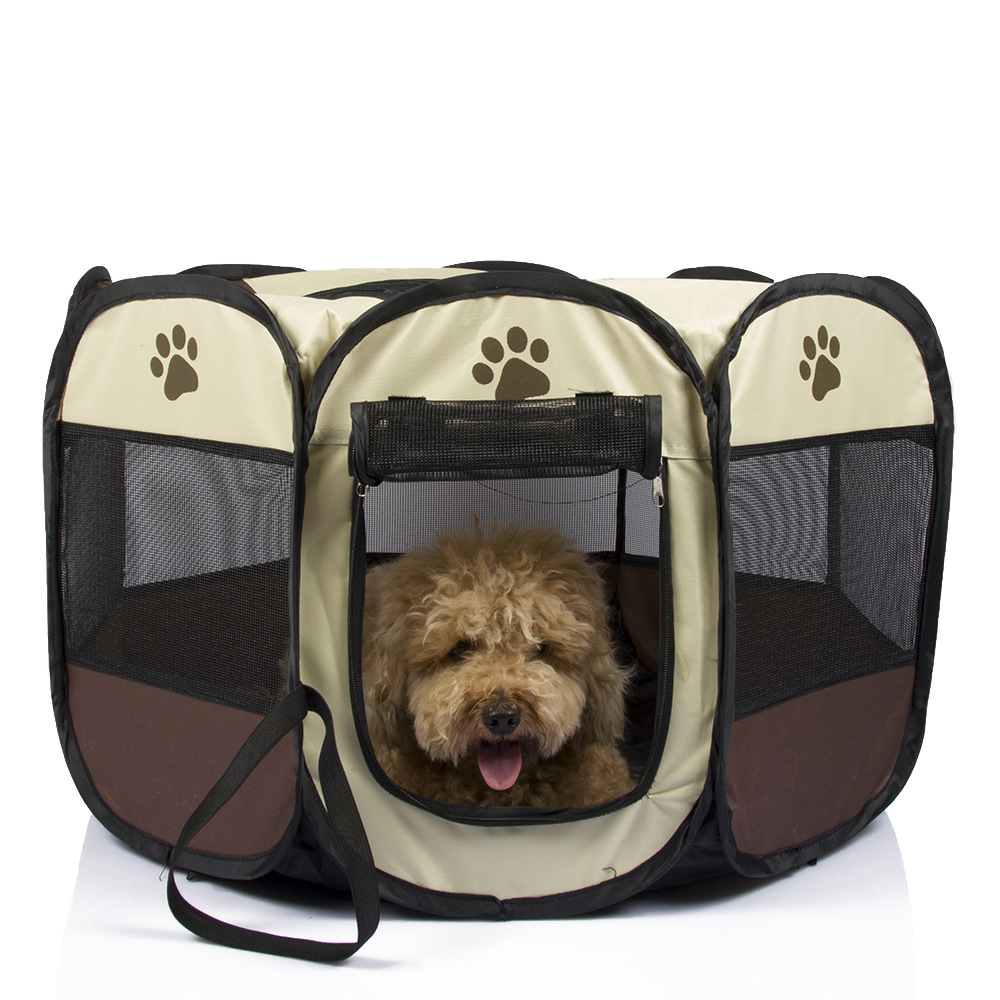 TECHOME Pet Tent Portable Playpen Dog Folding Crate Doghouse Puppy Pen Soft Kennel New Cat Cage