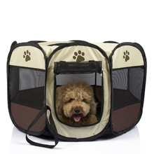 TECHOME Pet Tent Portable Playpen Dog Folding Crate Doghouse Puppy Pen Soft Kennel New Cat Cage 2017 Hot Sale