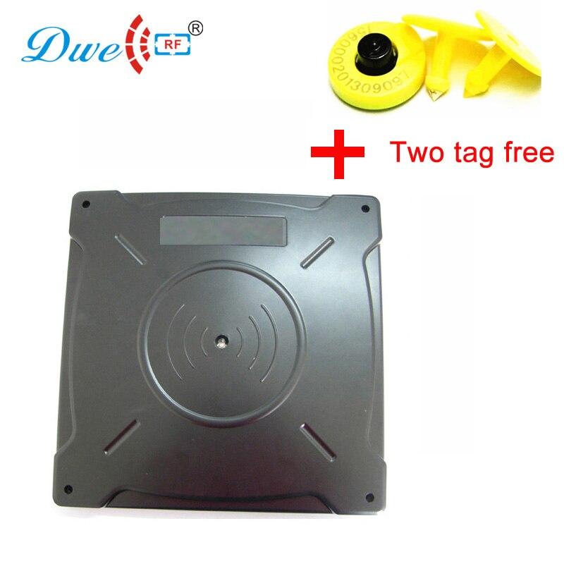 Lecteur de carte de contrôle DWE CC RF lecteur de puce animale RS232 wiegand 42 50 rfid fdx-b lecteur ISO11784/11785 longue portée conforme