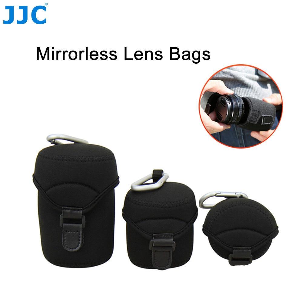 JJC Soft Mirrorless Camera Lens Bag for Olympus/Fujifilm/Pentax/Leica/Sony/Canon/Nikon Lenses Neoprene Pouch Protector Cover