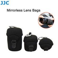 Jjc deluxe neoprene lente caso bolsa para canon EF M 18 150mm 18 55mm 55 200mm sony e 10 18mm nikon câmera mirrorless