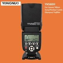 YONGNUO YN560 III de Flash Inalámbrico Speedlite YN560-III YN560III Speedlight Para Canon Nikon Olympus Panasonic Pentax Sony Cámara