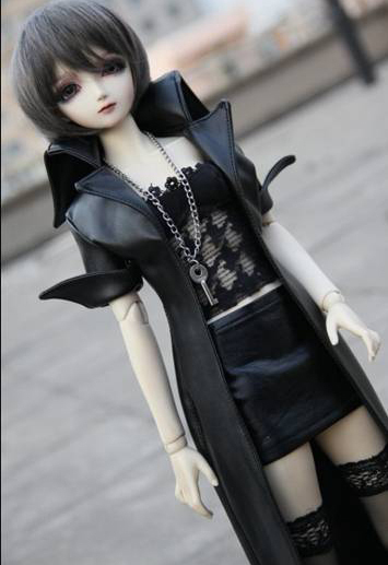 Handsome Long Leather Coat for BJD Doll 1/4 MSD 1/3 SD16,Uncle  IP EID Doll Clothes CW51