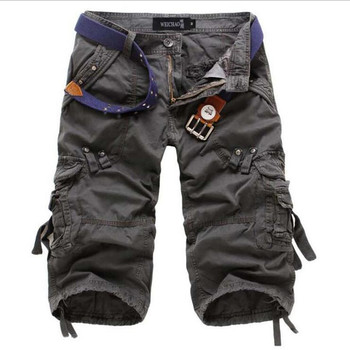 8 Colors Plus Size 29-42 New Brand Summer Camouflage Loose Cargo Shorts Men Camo Summer Short Pants Homme Cargo Shorts NO BELT 8