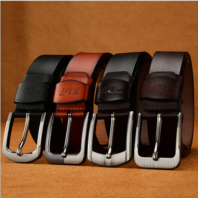 Man Belt Cowhide Leather Belts For Men Brand Male Pin Buckle Casual Jeans Cowboy Mens Woman Unisex Belts