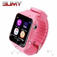Slimy Baby Smart Watch V7K Children Kids Security Safety GPS Location Finder Tracker Waterproof Phone Call