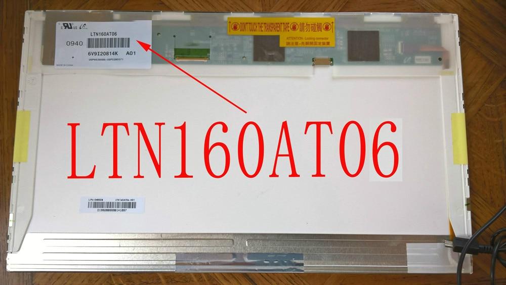 LCD Laptop Screen Display Panel for ASUS N61VG N61J X66IC LCD Screen LTN160AT06 lcd led 11 6 slim screen display for 4good cl110 display laptop lcd screen panel