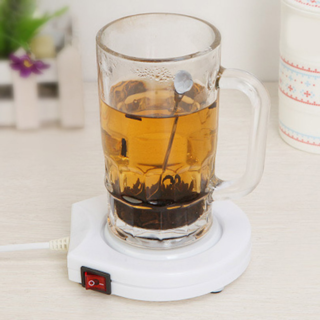 834fe4f478e5 220V Electric Powered Drink Cup Warmer Pad Coffee Milk Drink Mug Heater Tray  for Office Home Winter  LS JY19