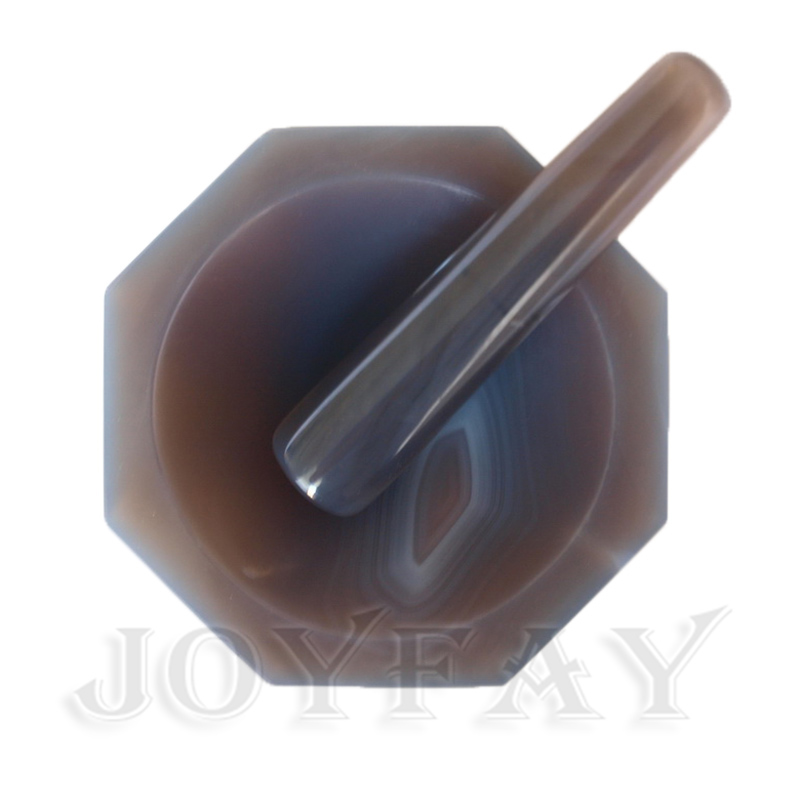 "Natural Agate Mortar and Pestle ID=80 mm 3"" OD=100 mm Lab Grinding-in Tool Parts from Tools    1"