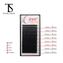 Thinkshow 16 Lines 8-15mm Mix Eyelash Extension Natural Long False Eye Lashes Individual Lash Thick Silk