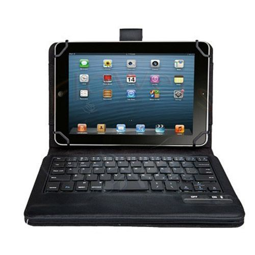 Galleria fotografica Universal Keyboard & Case Dechatable Bluetooth Keyboard & PU Leather Case Cover with Stand for Lenovo Tab 2 A8-50F 8''