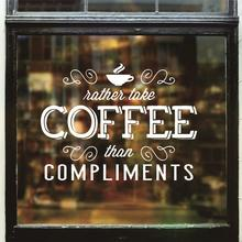 Dctal cafa decal The coffee shop stickers, the wall decorations  cafe decor mural etiqueta engomada 10