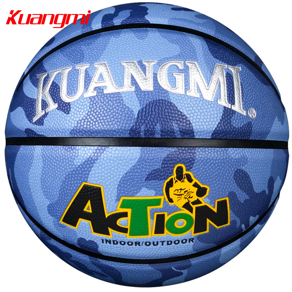 Kuangmi Camouflage Size 7 Basketball Ball Outdoor Indoor PU Leather Basketball Cool Street Freestyle Basketbal 1PC kuangmi sporting goods basketball pu training game basketball ball indoor outdoor official size 7 military sporit series netball