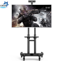 Flexible TV Carts Fashional TV Floor Stand Mobile TV Mount Suit for Size 32 65inch Plasma LED LCD TV