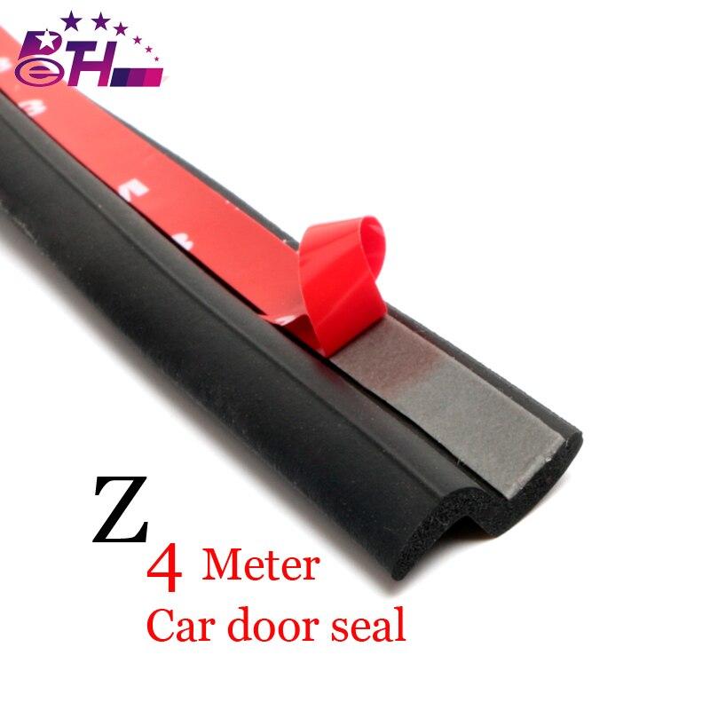 4Meter Z type 3M car door rubber seal Sound Insulation , car door sealing strip weatherstrip edge trim noise insulation цена