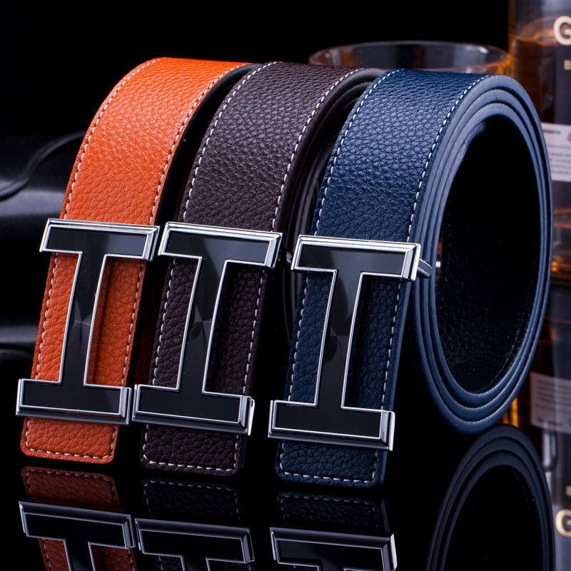 Luxury Brand Men Belt Cowhide Genuine Les