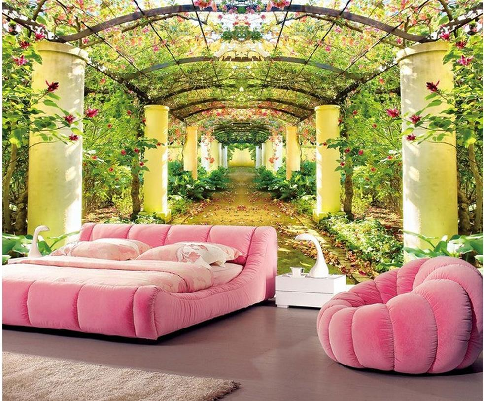 Wallpaper 3d modern room wallpaper beautiful garden eden highland landscape bathroom 3d wallpaperchina
